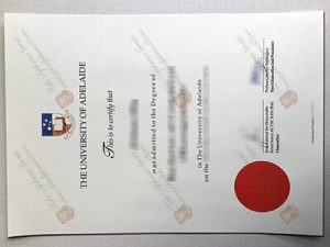 Fake University of Adelaide Degree Certificate