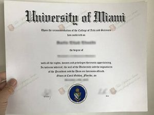 Fake University of Miami Diploma
