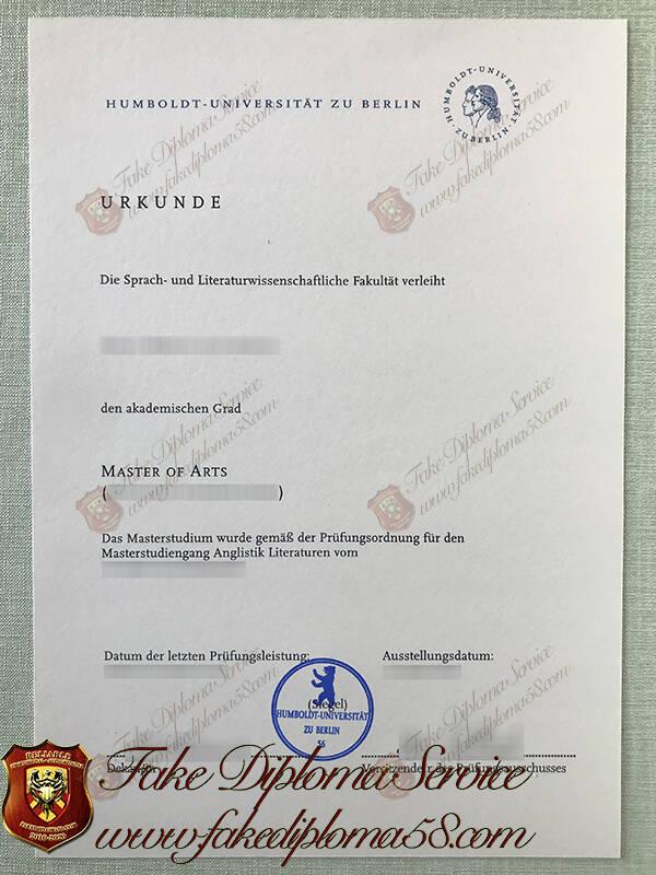Humboldt University of Berlin fake diploma