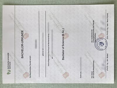 Buy Dortmund university of technology Diploma, Fake TU Dortmund Diploma