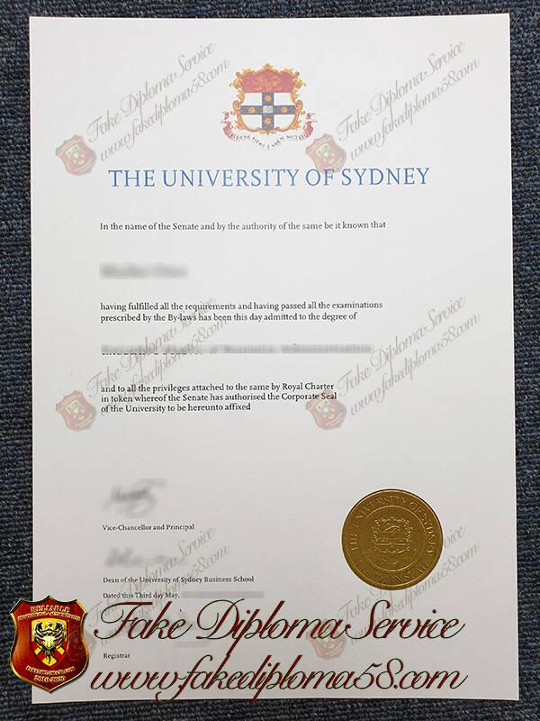 The University of Sydney fake degree