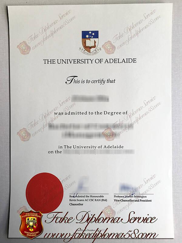 University of Adelaide fake degree certificate