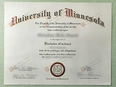 Copy University of Minnesota Diploma Online, Buy Fake NMN Degree Certificate