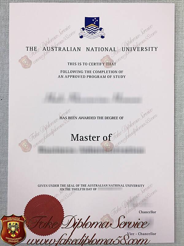 fake Australian National University degree