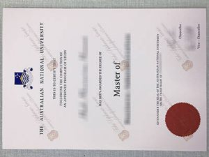 fake Australian National University diploma