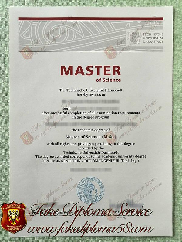 fake Darmstadt University of Technology diploma