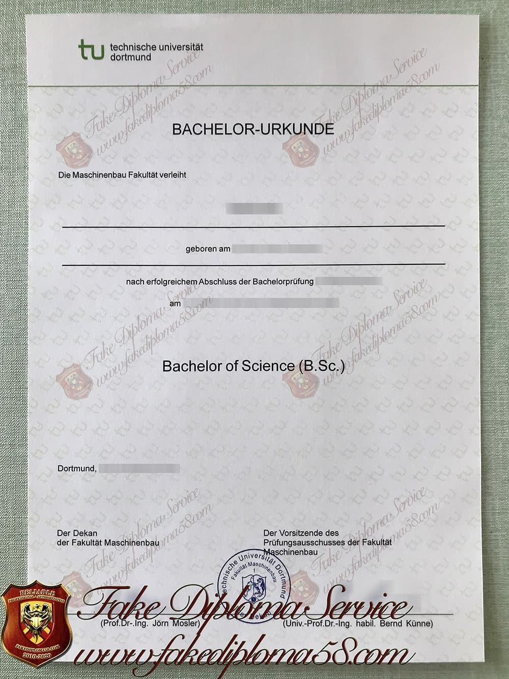 fake Dortmund university of technology diploma