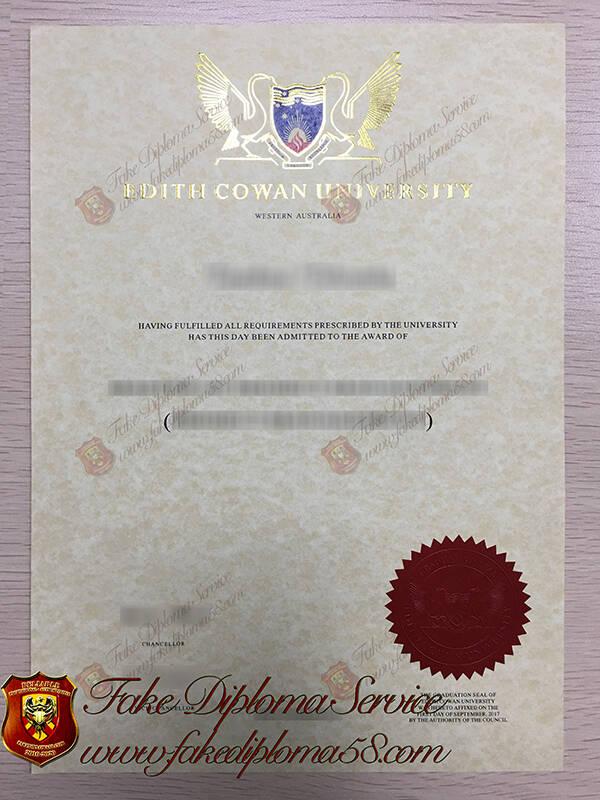 fake Edith Cowan University diplomas