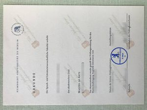 fake Humboldt University of Berlin diploma