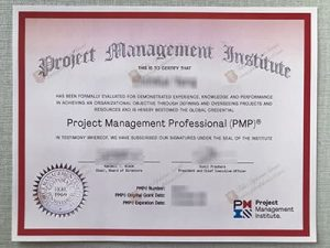 fake PMP Certificate, fake Project Management Professional certificate