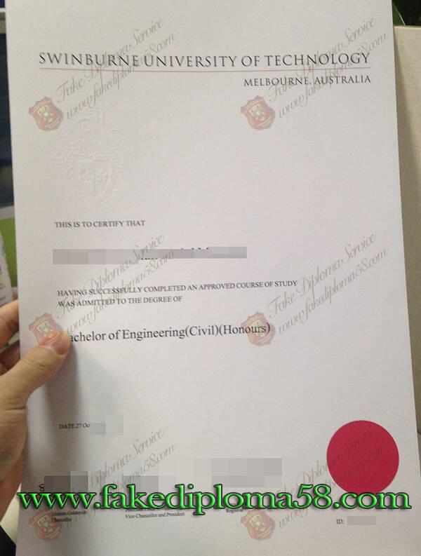 fake Swinburne University of Technology diploma