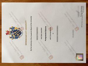Birmingham City University fake diploma