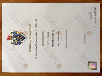 Buy Birmingham City University Diploma, Same as the original
