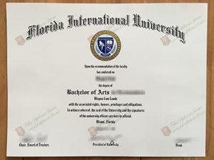 Florida International University fake diploma certificate