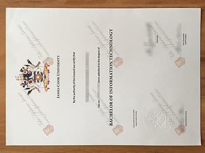Jams Cook University Diploma, Fake JCU Degree Certificate