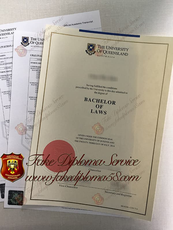 The University of Queensland fake diploma