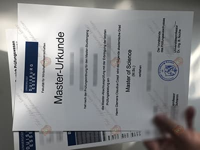 Buy University of Duisburg Essen Diploma, Uni DUE Diploma