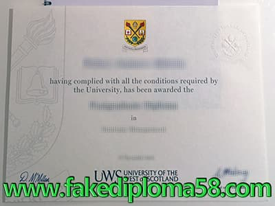 How to Buy University of the West of Scotland Fake Diploma Online?