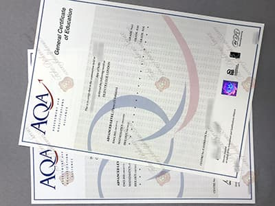 Copy the AQA GCE certificate Online, Same as the original one