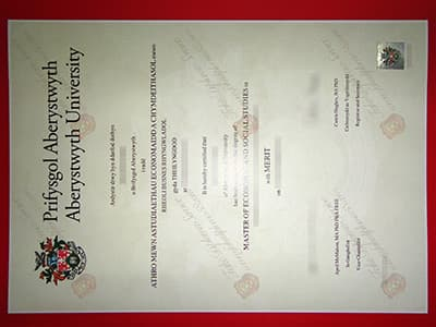 Reproduce an Aberystwyth University Degree Certificate Online