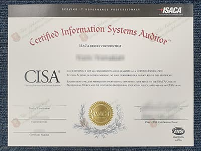 CISA Certificate, Certified Information Systems Auditor Certificate