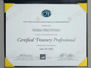 fake CTP certificate, fake Certified Treasury Professional certificate