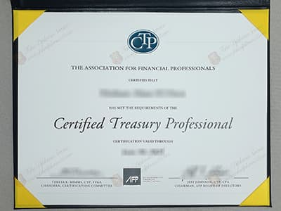 CTP Certificate, Copy Certified Treasury Professional Certificate Online