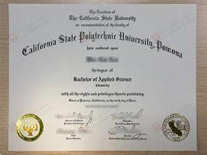 California State Polytechnic University Pomona diploma