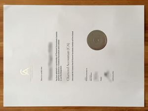 Chartered Accountants Australia and New Zealand certificate