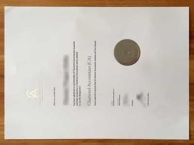 Chartered Accountants Australia And New Zealand Certificate