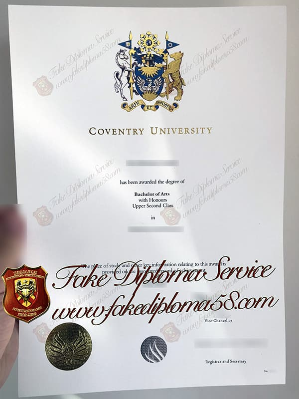 fake Coventry University degree degree diploma