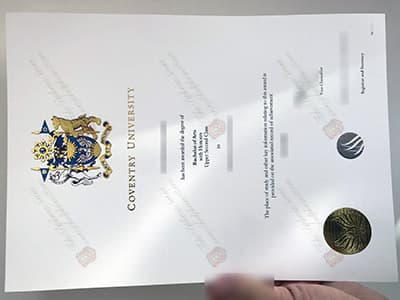 Coventry University Degree Certificate, The latest version