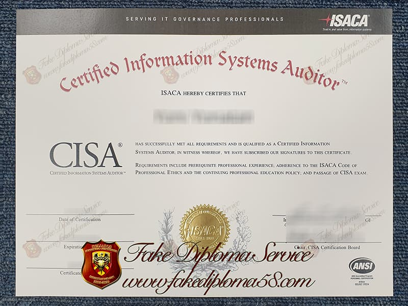 Fake CISA Certificate
