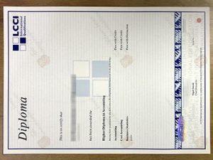 Fake LCCI certificate