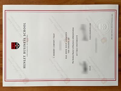 Order a Henley Business School Degree Certificate Online