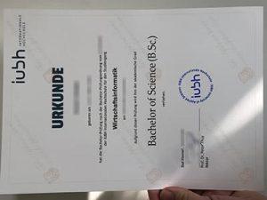 fake IUBH diploma, fake IUBH Internationale Hochschule diploma