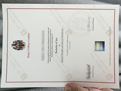 Copy a King's College London Degree Certificate Online