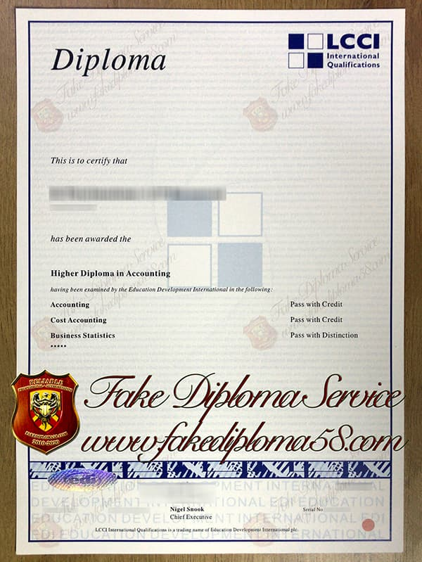 LCCI fake certificate