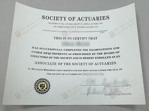 fake Society of Actuaries certificate, Fake SOA certificate