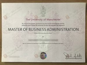 The University of Manchester diploma