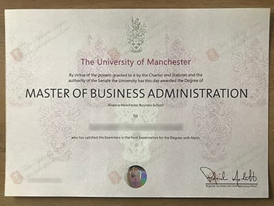 Order The University of Manchester Degree Certificate Online