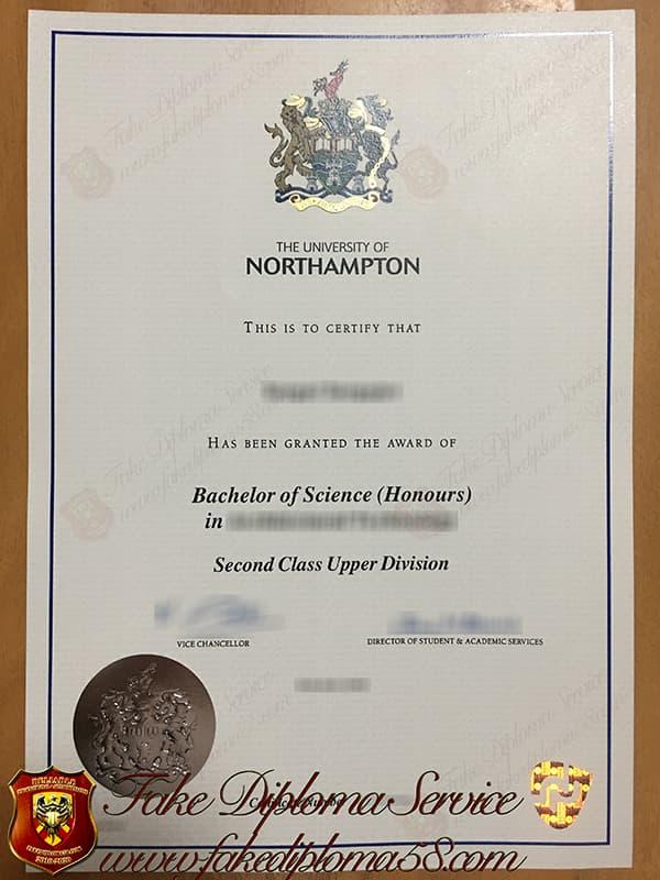 The University of Northampton fake diploma