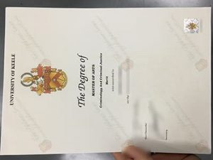 University of Keele degree certificate