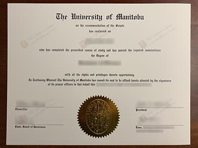 Get the University of Manitoba Diploma, Same As the Original