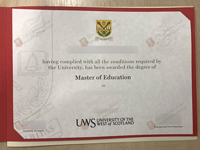 University of the West of Scotland Degree, UWS Diploma