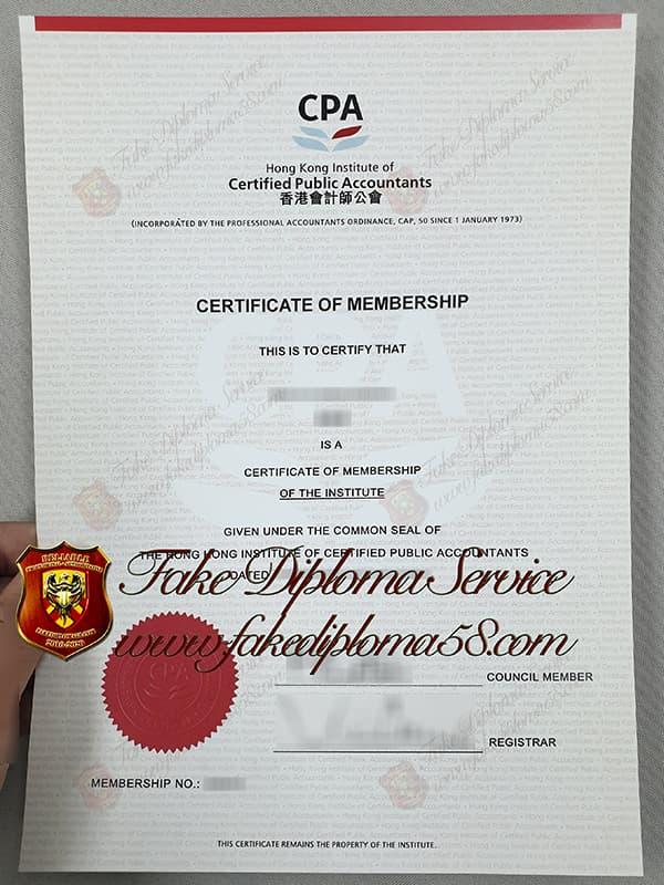 fake Certified Public Accountants certificate, fake HKICPA certificate, 香港會計師證書