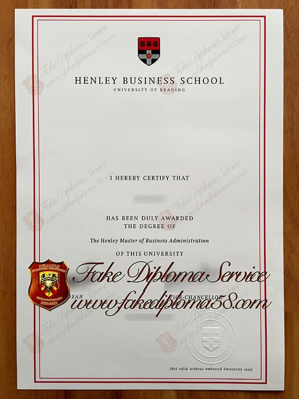 fake Henley Business School degree, fake Henley Business School diploma
