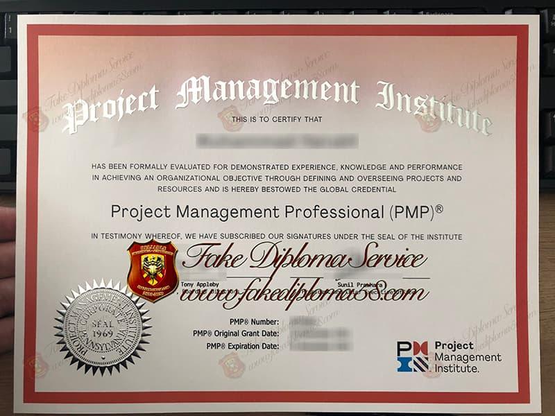 fake PMP Certificate, fake PMI Certificate