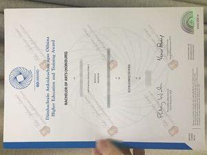 fake QQI Award certificate