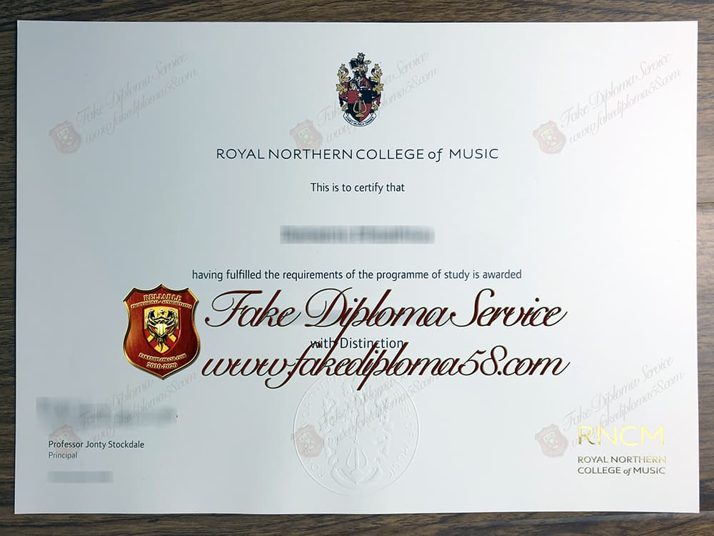 fake Royal Northern College of Music diploma